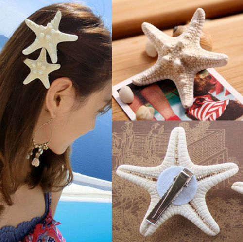 NEW-Womens-Girls-Sweet-gift-Nice-Starfish-Beach-Sea-Star-Hairpin-Hair-Clip