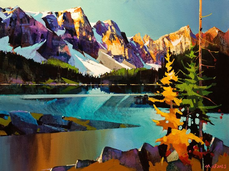 Moraine Lake in Many Colours, by Michael O'Toole