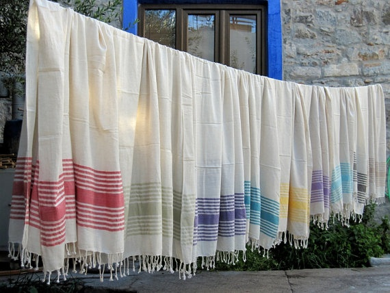 BEACH Towel, Linen Turkish Towel, Peshtemal, Turkish bath and beach towels Bridesmaid gift, Baby Towel, blanket, Exclusive Qualit, Hand Made on Etsy, $26.00