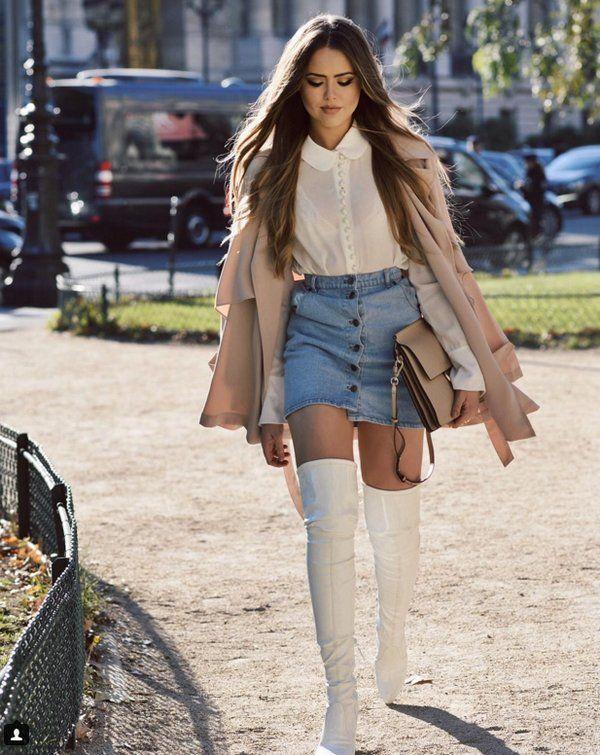 http://bellezacool.com/5-outfits-con-botas-altas-para-esta-temporada/ botas-altas-blancas-kristina-bazan-falda-vaquera-denim-rosa-cuarzo-chaqueta                                                                                                                                                                                 Más