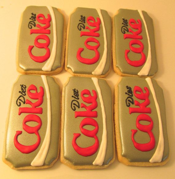 Diet Coke Can Sugar Cookies by 2AmisBake on Etsy, $24.00