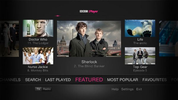 BBC iPlayer on TV by Nick Beese, via Behance