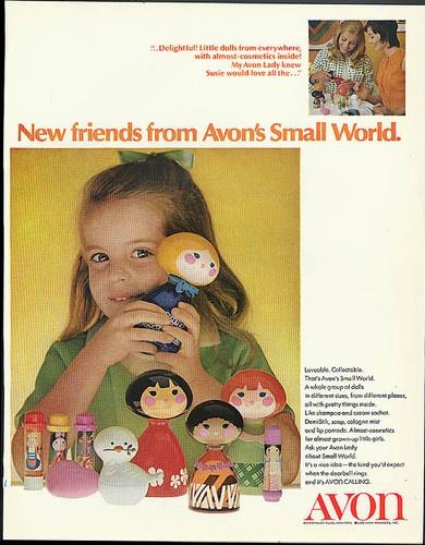 New Friends from Avon's Small World Ad 1970 Shampoo Dolls Lip Pomade | eBay