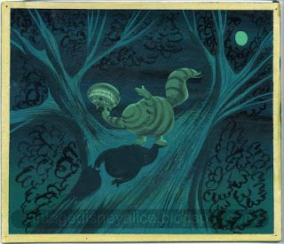 Vintage Disney Alice in Wonderland: Mary Blair Cheshire Cat Playing with His Head