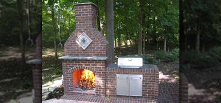 This is a how-to video on how to build an outdoor brick fireplace. It has 5 parts and is a total of about 45 minutes long. It covers laying brick, acid washing, installing firebrick, installing flue tubes, and installing a stainless steel grill. It also covers brick string guides and cutting bricks. Part one. Part two. Part three. Part four. Part five.