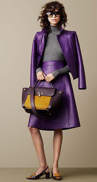 Fashion Express FF: バリーのレザージャケット&レザーパネルスカート