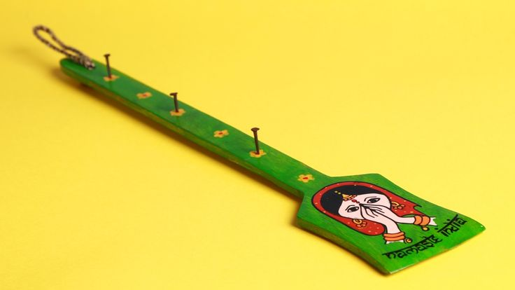 A Krazy Mug Namaste India Green Key Holder