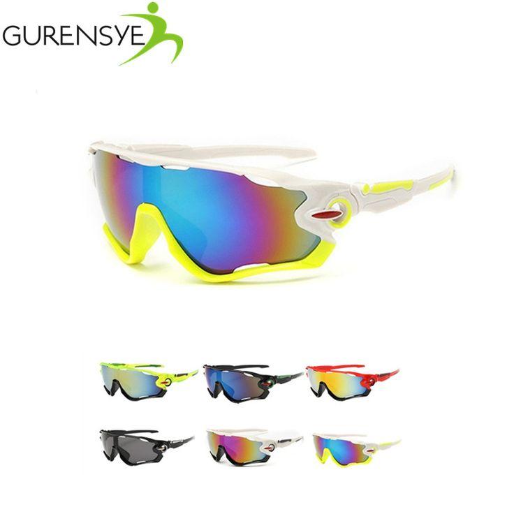 Brand new diseño gurensye lente colorido marco grande gafas de sol al aire libre deportes ciclismo bicicleta gafas gafas de bicicleta de la motocicleta gafas de sol