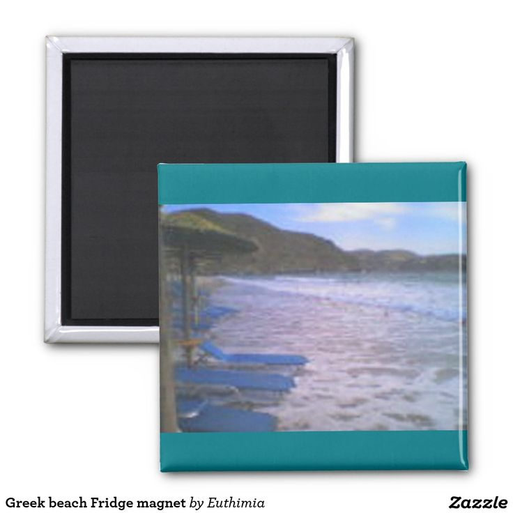 Greek beach Fridge magnet
