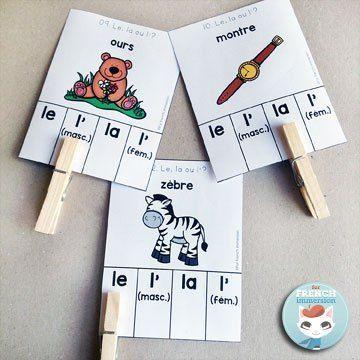 French Parts of Speech Resources: les classes de mots. Clip cards to practice…