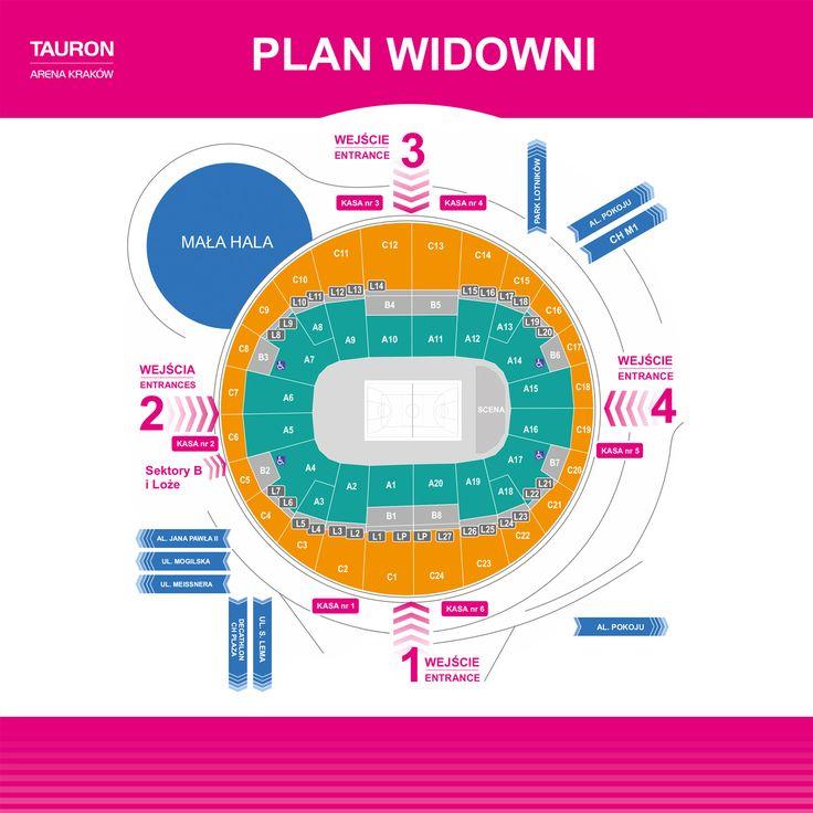 Plan TAURON Areny Kraków - TAURON Arena Kraków