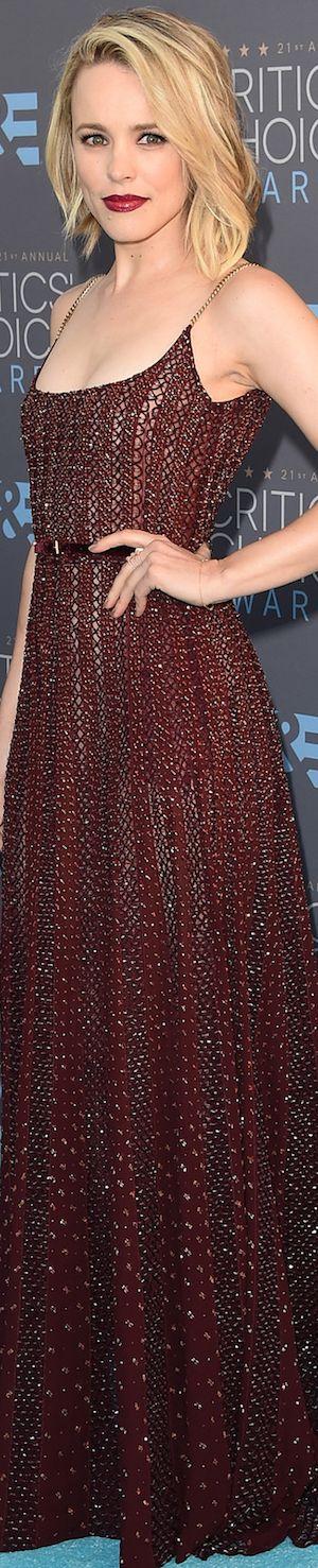 Rachel McAdams in Elie Saab 2016 Critics' Choice Awards