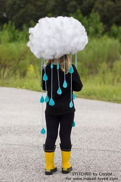 Make a Quick & Easy RAIN CLOUD COSTUME...for all ages!   Make It and Love It