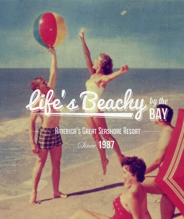 """Life's Beachy"" Buy from -http://graphicriver.net/item/premium-quality-8-vintage-labels-logo-badges/4622963?WT.ac=portfolio_1=portfolio_author=SAOStudio"