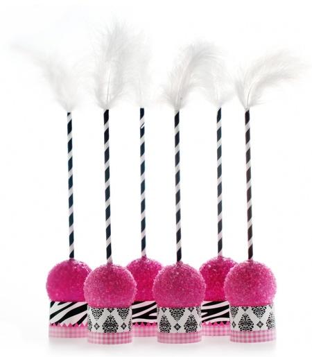 Vavavoom Vintage Pink Partyware Cakepop Kits - Shower Decorations