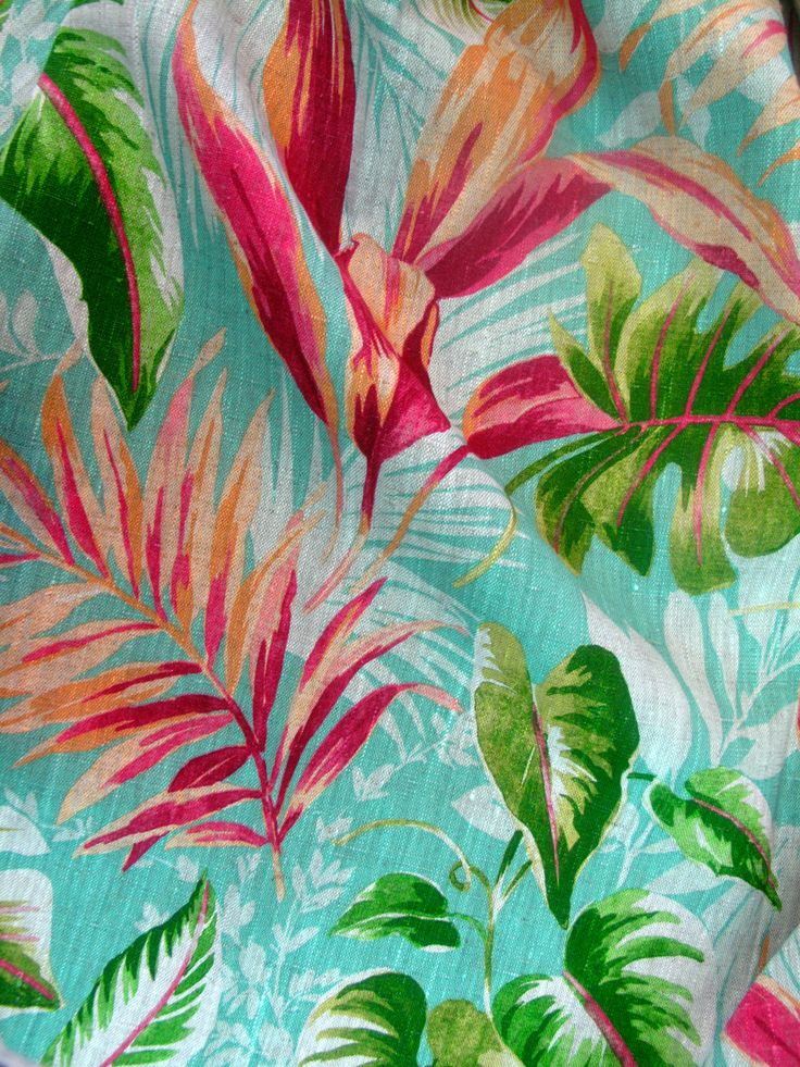 Tropical Mood Girolata fabric Pedroso&Osório2014  #pedrosoeosorio #textiles #tropicalmood #tropical homedecor www.pedrosoeosorio.com