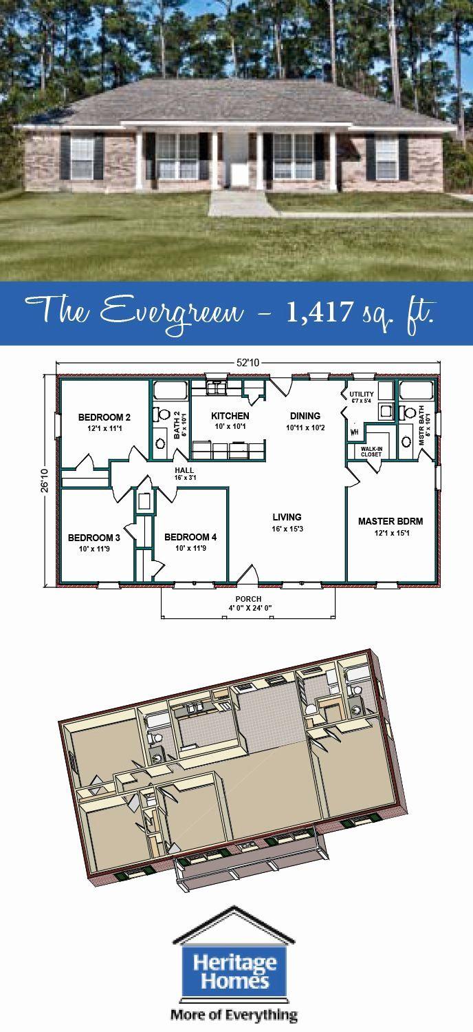1400 Sq Ft House Plans Unique 1 400 1 500 Sq Ft Floor Plan The Evergreen Is 1 417 Craftsman House Plans Porch House Plans Affordable House Plans