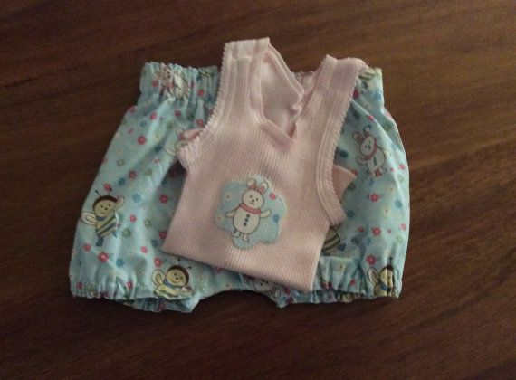 Baby Girl embellished SInglet and Bloomers set by Angellaschild