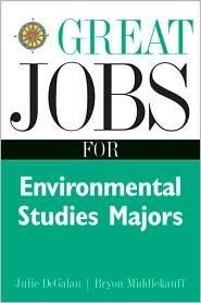 """What can I do with an environmental degree?"""" """"Great Jobs for Environmental Studies Majors"""" helps you explore your career options within your...  also this website is great for bookaholics!!"""