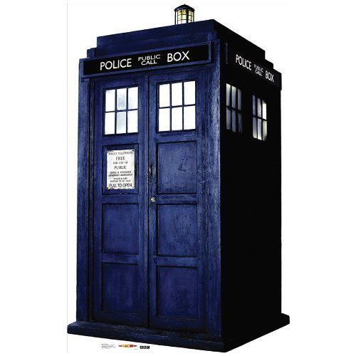Doctor Who Life-size Stand-up Cutout- Tardis by Poster Revolution, http://www.amazon.com/dp/B001M5L8GW/ref=cm_sw_r_pi_dp_KqOIrb039V3NV