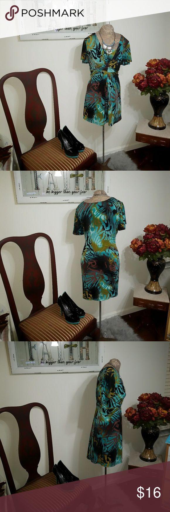 Alfani women knee length dress Like new condition 95 % polyester 5% spandex Alfani Dresses Midi