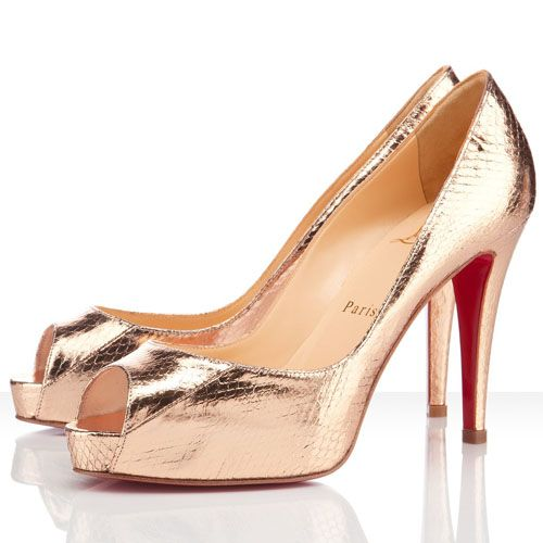 louboutin evening Argento