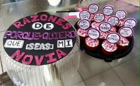 Quieres Ser Mi Novia Cupcakes Pinterest Cupcake