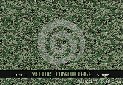 Vector army and huntingl camouflage pattern