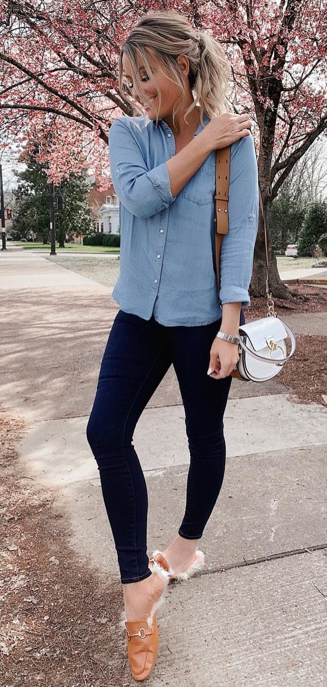 grey dress shirt #spring #outfits