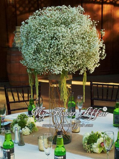 Green Wedding Flowers Centerpieces : Best rustic country wedding flowers images on
