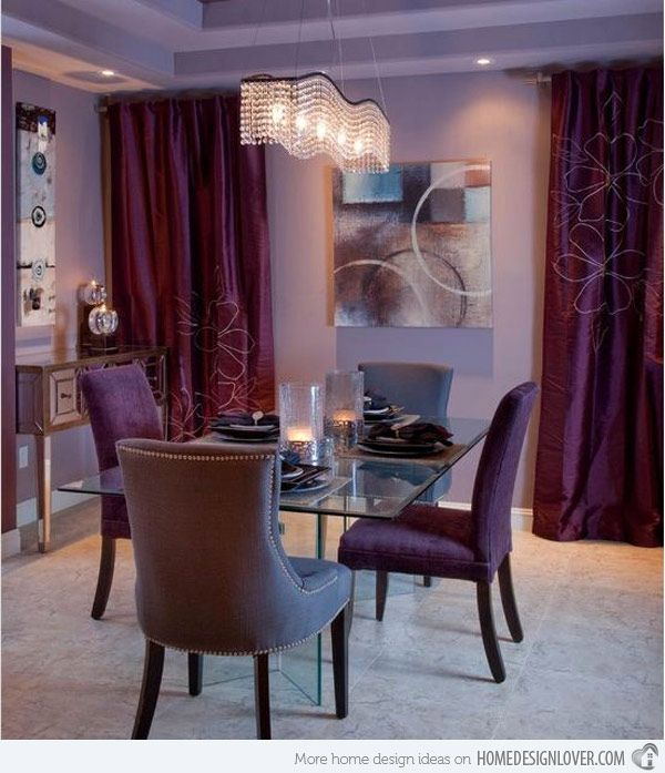 15 Purple Dining Room Ideas