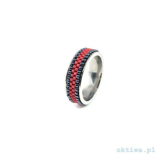 Pierścionek hematytowo-czerwony