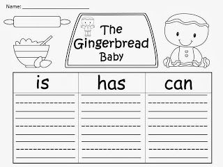 FREEBIE: The Gingerbread Baby by Jan Brett organizers.  Enjoy! fairytalesandfictionby2.blogspot.com