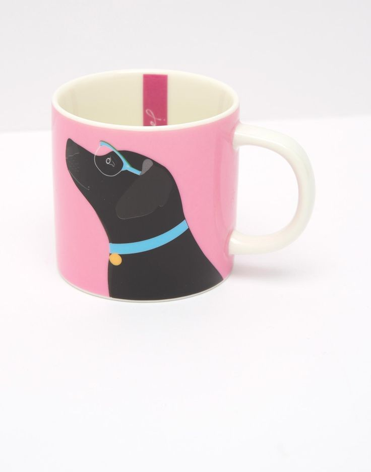 Cuppa True Pink Labrador Mug , Size One Size | Joules UK