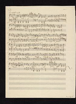 Mendelssohn-Bartholdy, Felix, 1809-1847. Lieder ohne Worte, piano, op. 62. Nr. 4 . Lied for piano, from Lieder ohne Worte, op. 62, no. 4 : autograph manuscript, 1844?