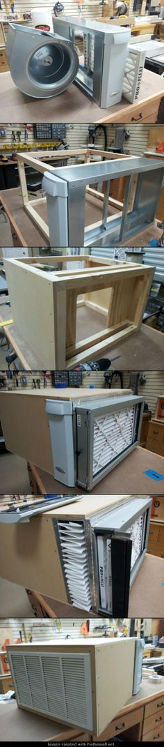 """Started with blower, air cleaner, filter box. I used 1/2"""" MDF for the case and the entire assembly is hung from the ceiling. I should have done this long ago. The shop is now completely clear of the fine dust that previously covered everything. - created via http://pinthemall.net"""