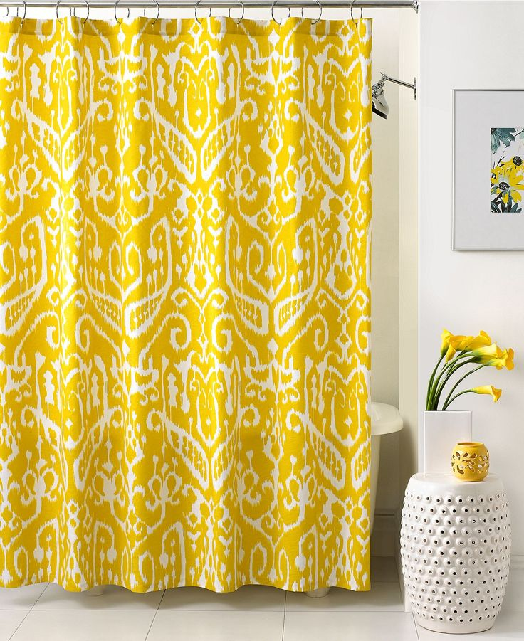 Trina Turk Bath, Ikat Shower Curtain Would be cute with navy towels and accessories