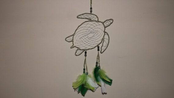 Turtle dream catcher free shipping with in by LandonsDreamCatchers,