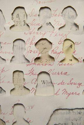 Découpages - collages. Lisa Kokin. Fétichisme de portraits. #silhouette #tête #coupées http://www.lisakokin.com/