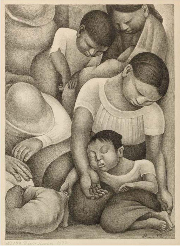 Diego Rivera (1886-1957) Sueno 1932 (437 x 317 mm)