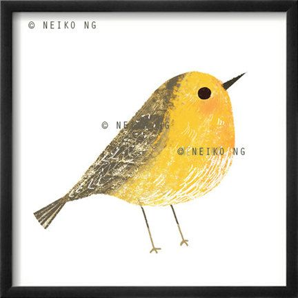 One 4 X 4 Bird Print  6 different birds to choose by PaperPlants, $12.00