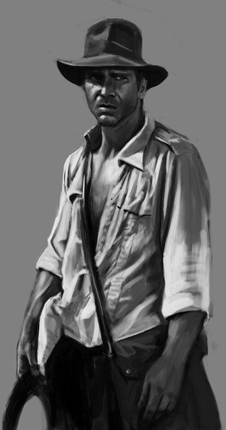 Indiana Jones fan art by Brian Lindahl