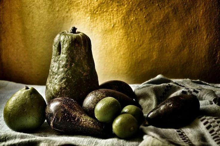 Still life with papaya