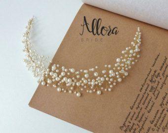 Vides de pelo nupcial vides de alambre de plata perlas de