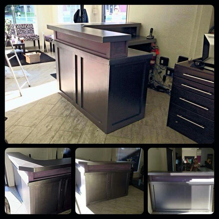 Wowza! Here is a custom desk I painted with our new Van Gogh metallics 'Speak Now' & 'Rebecca' chalk Paint (the purple part) for Fringes Hair Salon in Cochrane...still have a few touch ups to do but it turned out amazing!!! Stop by and check it out! www.albertadames.ca