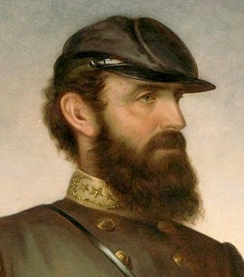 """Thomas J. """"Stonewall"""" Jackson arrived at West Point unprepared and uneducated. He failed his first entrance exam. A loner, he worked diligently to improve his class ranking and graduated 17th. in the Class of 1846. His worst grades, like U.S. Grant's, in infantry tactics."""