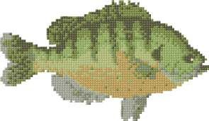 Fish, free cross stitch patterns and charts - www.free-cross-stitch.rucniprace.cz