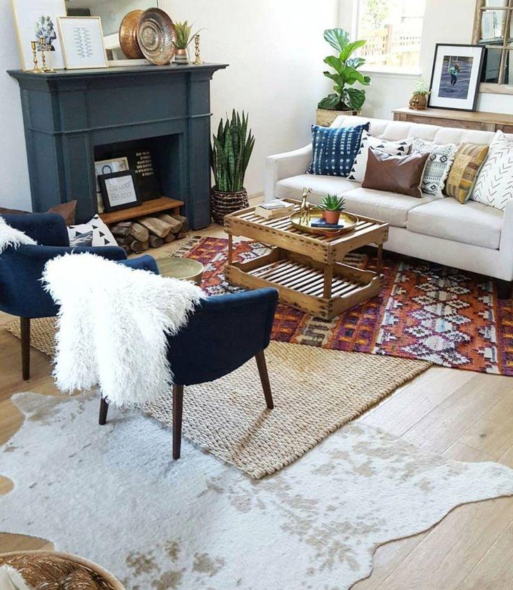 70 Inspiring Bohemian Style Living Room Decor