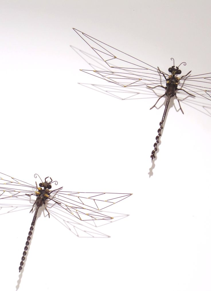 Dragonflies. Recycled steel. Marti Wong sculpture.