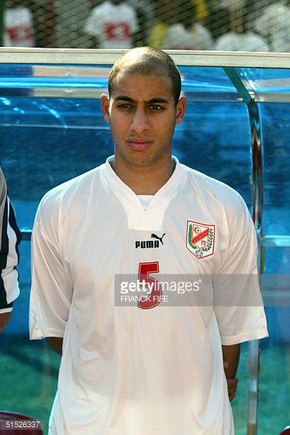 Portrait of Tunisia national soccer team player Mehdi Nafti taken 25 January 2002 in Bamako before the start of the XXIIIrd African Cup of Nations...